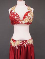 深紅ベリーダンス衣装2 MiLLANA