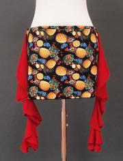 パイナップル赤フリルヒップスカーフ2 ミラーナ