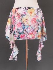キラキラ花柄ヒップスカーフ2 ミラーナ