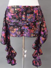 象形文字風の黒ベースヒップスカーフ MiLLANAベリーダンス衣装